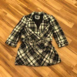 Heart Soul Plaid Pea Coat